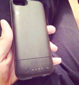 Зарядный чехол на айфон 5, 5s
