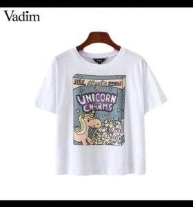 Новая футболка майка топ из хлопка