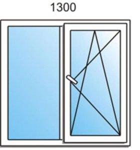 ОКНО ПВХ стандарт 1300х1400
