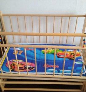 Кровать - маятник+матрас