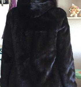 Шуба норковая  раз 44-46 темно коричневый цвет
