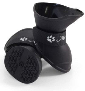 Сапожки для собак черные Triol (р-р S) 4шт.