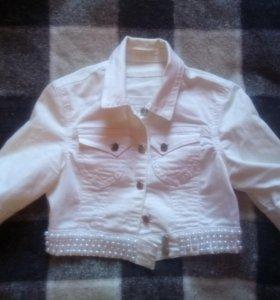 Болеро, укороченная джинсовая куртка