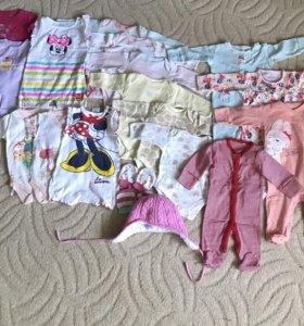 Одежда на девочку от 0 до 6 мес (NEXT; Mothercare