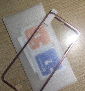 Стекло для iPhone 6/6s(Rose)