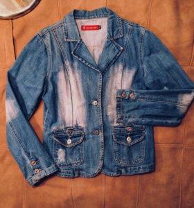 Джинсовая куртка-пиджак рр44-46-48
