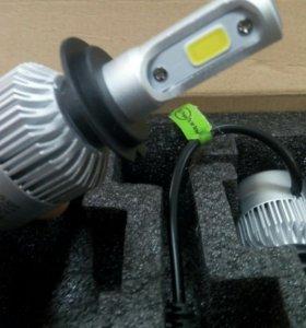 Светодиодные лампы цоколь H7, 6500K
