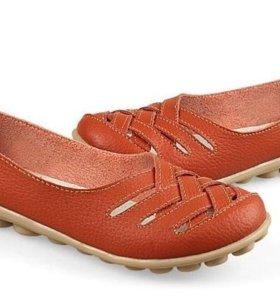 Туфли. Мокасины. Кожа.Новые.