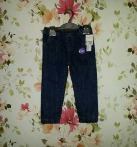 Новые утепленные джинсы mothercare р.98