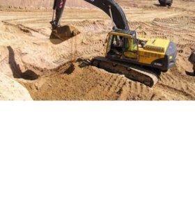 Песок, пгс, перегной,навоз,земля