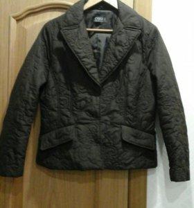 Куртка стеганая, коричневая 48 размер