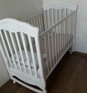 Кроватка детская Гандылян и ортопедический матрас