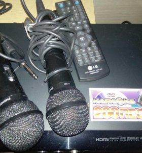 DVD плеер/караоке LG/2 микрофона.