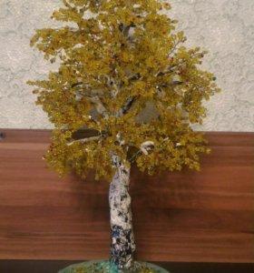 Осенняя березка из бисера