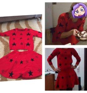 Костюм юбка с кофтой размер 42-44
