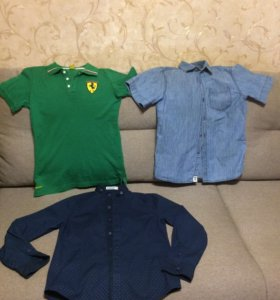 Рубашки для мальчика. Рост 140.