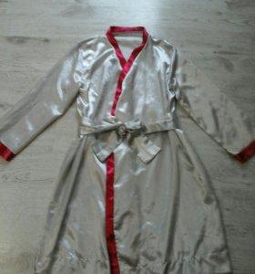 Атласный халат