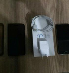 Смартфон Meizu m3s в отличном состояние + 2 чехла
