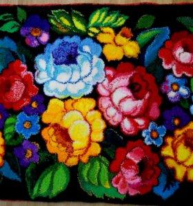 """Дизайнерский ворсовый ковер """"Цветочный рай"""""""