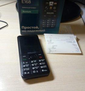 Надёжный телефон Philips E168 новый кнопочный