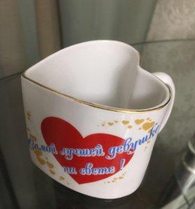 Кружка декоративная в форме сердечка