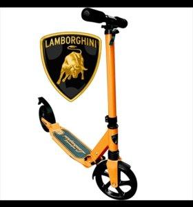"Самокат ""Lamborghini"" 200 мм 2 аморт.оранжевый"