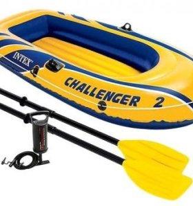 Надувная лодка Intex двухместная Challenger-2