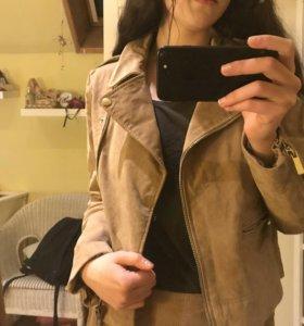 Кожаная куртка Mango
