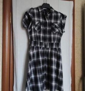 Платье, новое, 46-48 р. 100% хлопок.