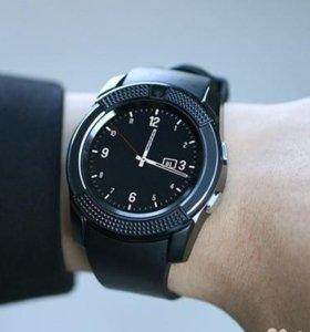 Стильные смарт часы - телефон Tiroki v8 Новые