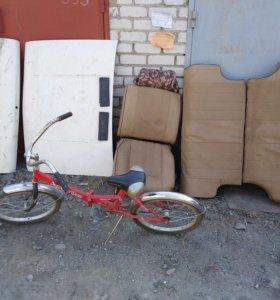 Капоты 1000 р. сидения 2000 р.и велосипед 4000 р.