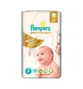 Pampers Подгузники Premium Care 5-9 кг 60 шт