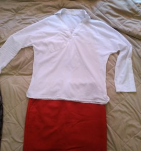 блузка с   карманом на груди