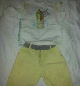 шорты и футболка на мальчика