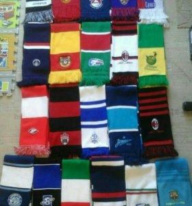 Футбольные и хоккейные шарфы