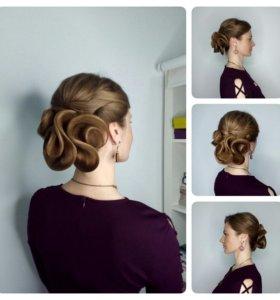 Модель на причёску, косы, локоны
