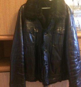 Куртка мужская (кожа, натуральный мех)