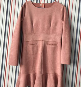Платье мини нежно-розовое новое