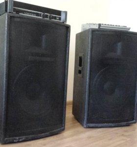 Проф акустика: Колонки 700 Вт, Усилит 700Вт, Пульт
