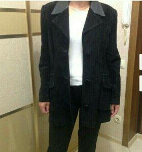 Пиджак замшевый
