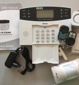 GSM-Сигнализация Русский язык датчики и сирена