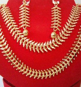 Комплект из дубайского золота