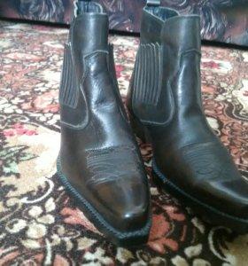 Мужские туфли (кожа, зима)