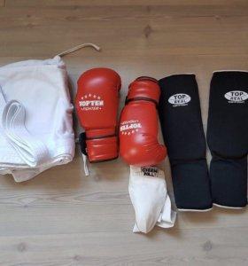 Кимоно.перчатки и защита.