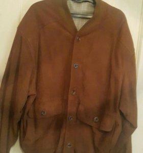 Куртка фирменная.замшевая