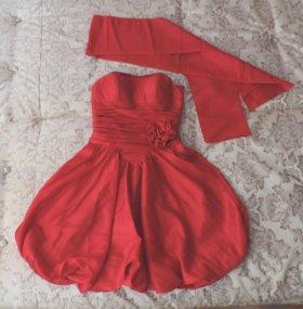 Красное Платье для Подружки Невесты или Выпускной