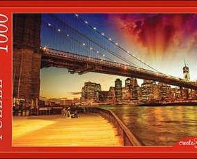 Пазл 1000 шт Ночной Бруклинский мост
