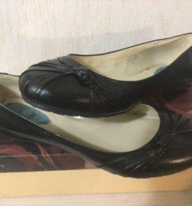 Туфли балетки Fitzwell (новые) кожа