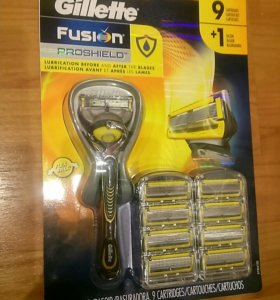 Лезвия Gillette Fusion ProShield + станок. США