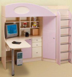 Кровать - чердак для девочки